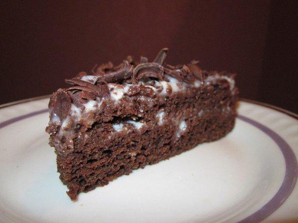 Торт шоколадный легкий рецепт
