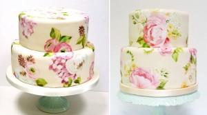 Как сделать роспись на торте. Видео