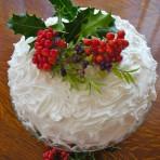 Простое украшение новогоднего торта. Видео
