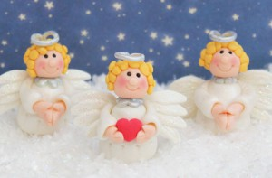 Ангелы из мастики – мастер-класс