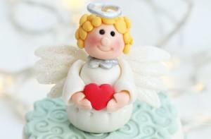 Ангелы из мастики – мастер-класс-шаг 10
