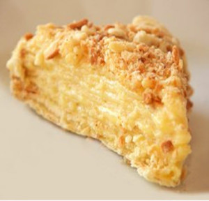 Заварной крем с кедровыми орешками для торта Наполеона-шаг 1