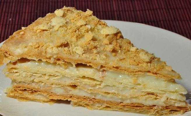 Рецепт торта наполеон с заварным кремом в домашних условиях 153