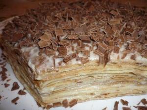 Очень нежный блинный торт с заварным кремом