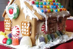 Новогодний десерт - пряничный домик