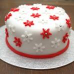 Как украсить торт мастикой. Видео по украшению рождественского торта. Звездочки из мастики