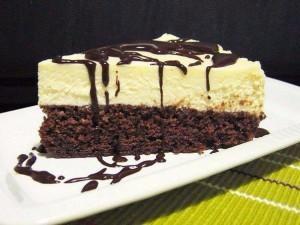 Шоколадный торт Брауни с творогом