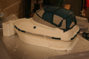 3D торт Лодка-яхта – мастер класс-шаг 5