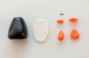 Пингвин из мастики – мастер-класс-шаг 2