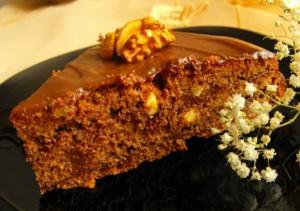 Шоколадный торт с орехами в мультиварке