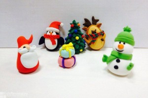 Снеговик из мастики. Видео-шаг 2