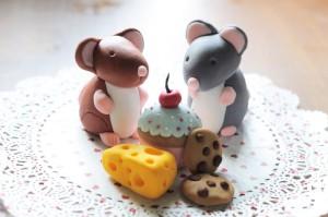 Животные из мастики. Как сделать мышку из мастики – мастер-класс