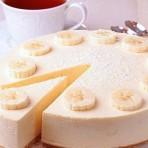 Простой творожный торт с бананами или чизкейк быстрого приготовления