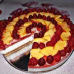 Творожный торт с фруктовым слоем