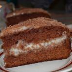Сметанный торт с шоколадным вкусом
