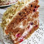 Сметанный крем с брусникой для торта