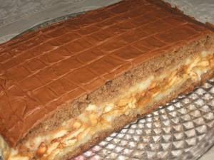Шоколадный торт Сникерс – еще один вариант приготовления любимого торта