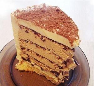 Торт без выпекания. Шоколадно-кофейный торт