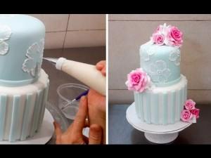 Как украсить свадебный торт – видео-шаг 1