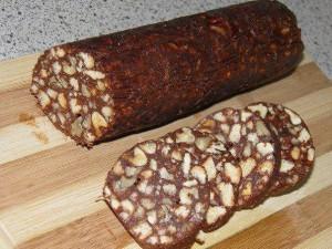Вкуснейшая шоколадная колбаса из печенья