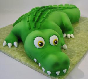 Животные из мастики – крокодил из мастики