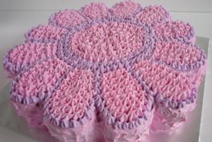 Украшение домашнего торта. Торт Цветок – видео