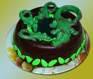 Животные из мастики – крокодил из мастики-шаг 1