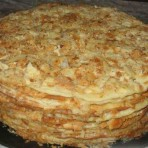Торт Наполеон с двумя видами теста