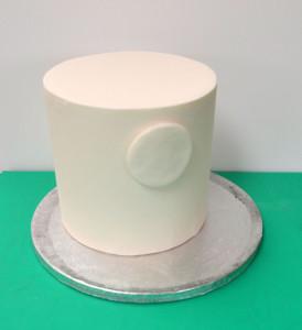 Торт из мастики Ночь перед Рождеством. Мастер-класс-шаг 2