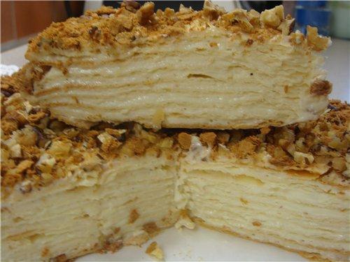 Заварной крем торт наполеон рецепт с фото