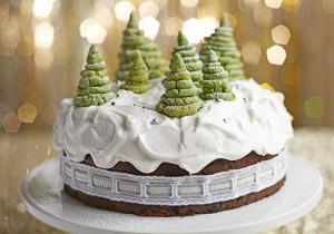 Как украсить новогодний торт – видео-шаг 1