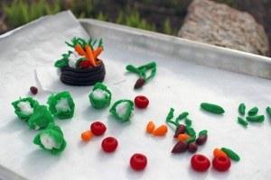 Оригинальный торт Огород – видео и мастер-класс-шаг 1