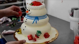 Торт Снеговик – видео рецепт-шаг 2