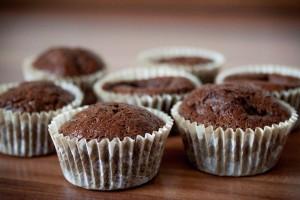 Шоколадные кексы с бананами