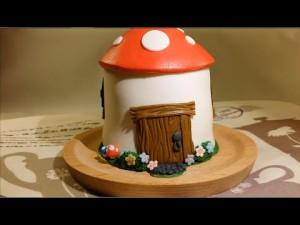 Детский торт Гриб-мухомор – видео-шаг 3