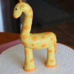 Животные из мастики – жираф. Мастер-класс