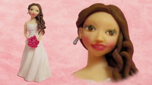 Как украсить свадебный торт – Невеста из мастики. Видео