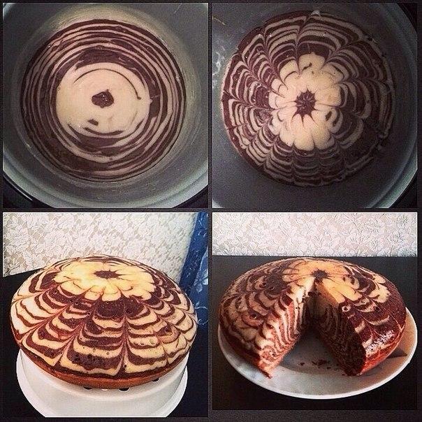 Торт зебра в мультиварке рецепт с фото готовим дома