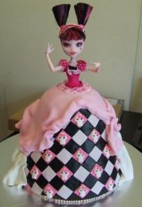 Детский торт монстр хай c куклой