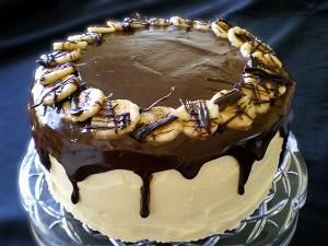 Вкуснейший шоколадно-банановый торт с шоколадным кремом