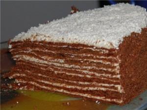 Торт Спартак шоколадный