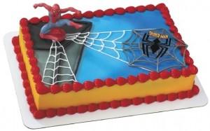 Торт из мастики Человек-паук