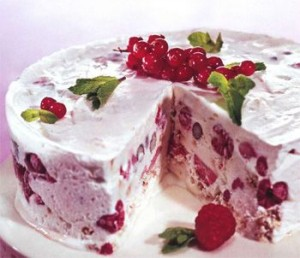 Торт-мороженое с вишнями