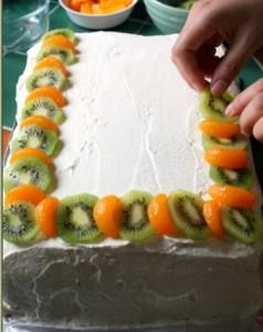 фруктовый торт -шаг 2