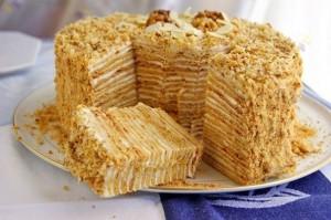 Торт Пизанская башня со сметанным кремом-шаг 1