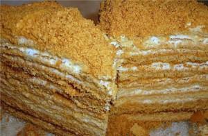 Медовый торт с заварным кремом-шаг 1