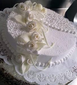 Свадебный торт «Белый трюфель»