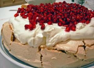 Торт-безе со сливками