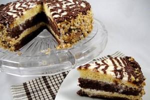 Торт День и ночь -шаг 1