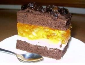 Бисквитный фруктовый торт -шаг 1